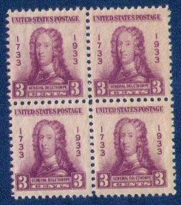 US Sc 726 MH Zip Block Of 4 Very Fine