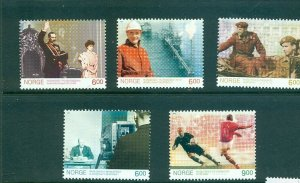 Norway - Sc# - 1432-6. 2005 Historic Events. MNH $9.75.
