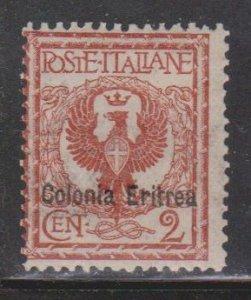 ERITREA Scott # 2 MH - Italian Stamp With Overprint