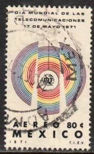 MEXICO C387 World Telecommunications Day. Used. VF. (1191)