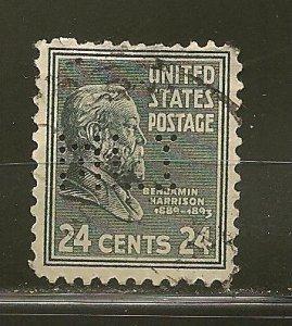 USA 828 MLI Perfin Used