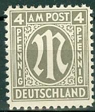 Germany - Allied Occupation - AMG - 3N3 MNH