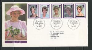 STAMP STATION PERTH:Great Britain - FDC Diana Princess of Wales 1998 CV$?