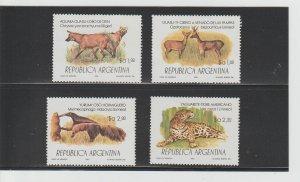 Argentina  Scott#  1418-1421  MH  (1983 Protected Species)