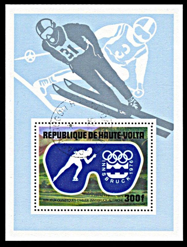 Upper Volta C227, CTO, Innsbruck Winter Olympic Games souvenir sheet