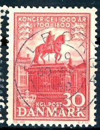 Denmark 1955: Sc. # 350: O/Used Single Stamp