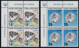 Cyprus 863-4 TL Blocks MNH Map, Liberation of Concentration Camps