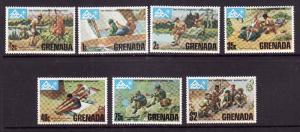 Grenada-Sc#644-50-unused hinged set-Boy Scouts-1975-