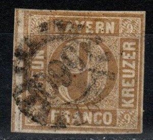 Bavaria #12 F-VF Used CV $16.00 (X253)