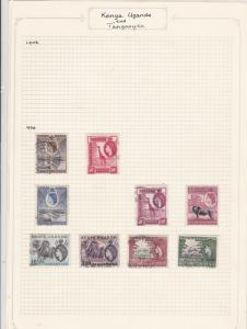 Kenya Uganda and Tanganyika Stamps Ref 14574