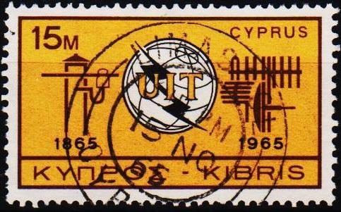 Cyprus.1965 15m S.G.262 Fine Used