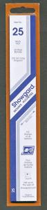Showgard Stamp Mount Size 25/215 mm - BLACK (Pack of 22) (25x215  25mm) STRIP