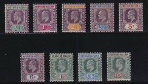 Northern Nigeria Sc #10-18 (1902) 1/2d to 10/- King Edward VII Set Mint H