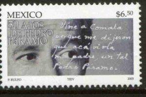 MEXICO 2439, PUBLICATION OF PEDRO PARAMO BY JUAN RULFO 50th ANN.. MINT, NH. VF.