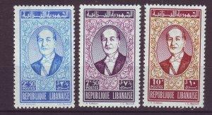 J24031 JLstamps 1961 lebanon set mh #253-5 president