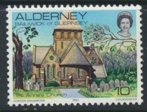 Alderney  SG A4  SC# 4 1983 Definitive  Church    MNH  see scan