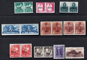 South West Africa SWA 1941-1943 - War Effort , MLH  set # 135-143