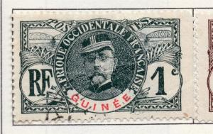French Guinea 1906 Early Issue Fine Used 1c. 193454