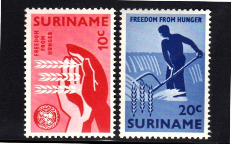 SUDAN #180-181  1963  FREEDOM FROM HUNGER  MINT VF NH  O.G