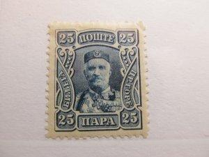 Montenegro 1907 25p Fine MH* A5P17F332