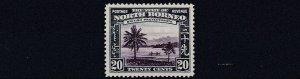 NORTH BORNEO  1939  S G 312     20C  VIOLET & BLUE      MH