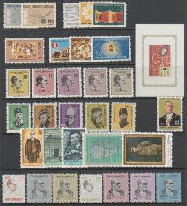Turkey Sc 1665/1838 MLH. 1965-1970 issues, 10 cplt sets, VF