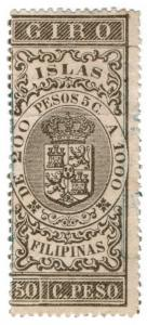 (I.B) Philippines (Spanish Colonial) Revenue : Internal Duty 50c