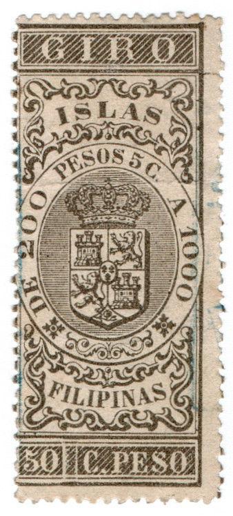 (I.B) Philippines (Spanish Colonial) Revenue : Internal Duty 50c