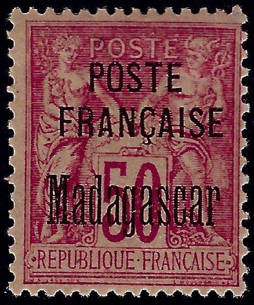 Madagascar 1895 Scott#19 YT#19 Mint F-VF CV$275...Buy before prices go up!