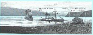 Greenland #528a MNH S/S CV$9 Explorers Sofia Nordenskiöld