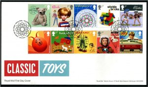 HERRICKSTAMP GREAT BRITAIN Sc.# 3638-47 Classic Toys First Day Cover
