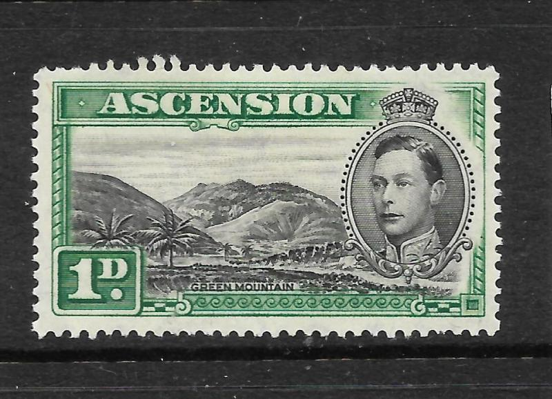 ASCENSION ISLAND  1938-53  1d   KGVI  PICTORIAL  MLH    SG 39
