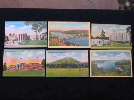Vintage Arkansas Post Cards – ca 1940 – 13 Different