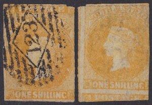 South Australia : 1858 QV 1/- ERROR PRINTED BOTH SIDES PHOTO CERTIFICATE