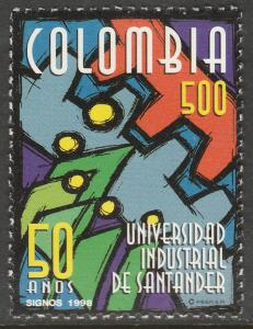 COLOMBIA 1142, SANTANDER IND. UNIVERSITY ANNIVERSARY. MINT, NH. F-VF. (536)