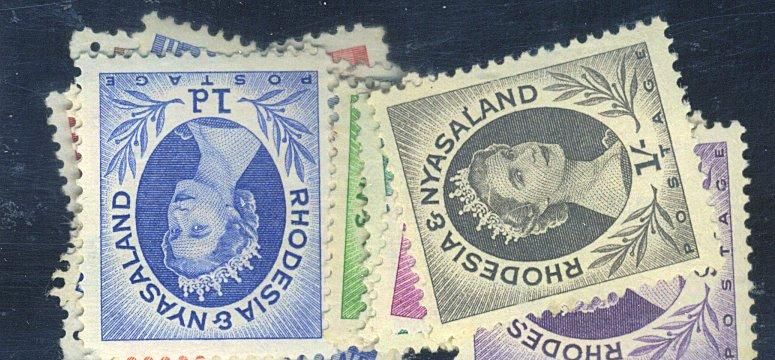 Rhodesia & Nyasaland #141-9 MINT F-VF NH 15-2 Used Cat$22