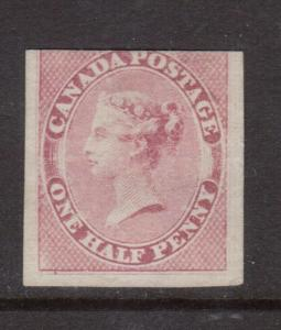 Canada #8 Mint Fine Unused (No Gum) & Cut In At Top