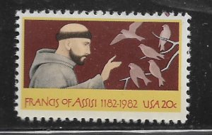 UNITED STATES, 2023, MNH, FRANCIS OF ASSISI 1182-1982