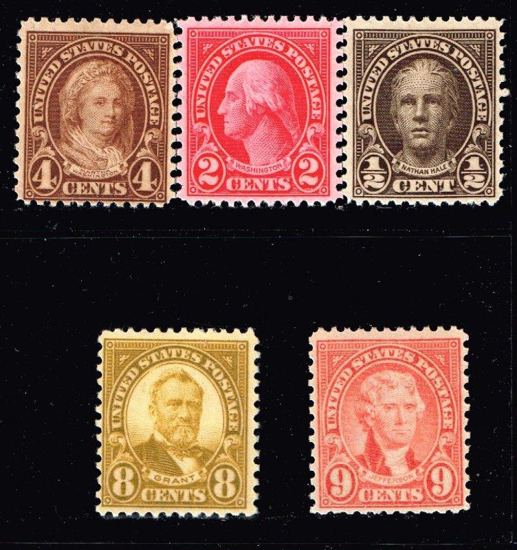 US STAMP Rotary Press 1927 MNH/OG STAMPS LOT