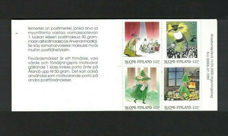 MROW152) Finland 2000 Moomins Booklet MUH