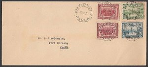 PAPUA 1934 Declaration set on FDC ex Port Moresby...........................L773