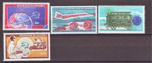 J22307 Jlstamp 1974 dahomey set mnh #c221-4 transportation