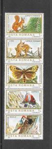 BIRDS - ROMANIA #3154 (row 1)  MNH