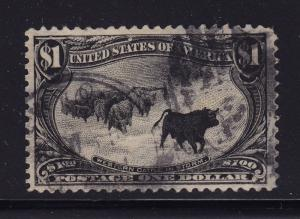 292 VF-XF used neat cancel with nice color cv $ 750 ! see pic !