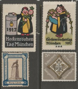 Europe mostly mint Cinderella stamp- Free Shipping- great prices 4-23b-8