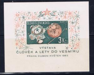 Czechoslovakia 1175 Never Hinged 1963 Space Souvenir Sheet;
