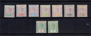 ST. VINCENT - 1898 QUEEN VICTORIA SET - SCOTT 62 TO 70 - MLH