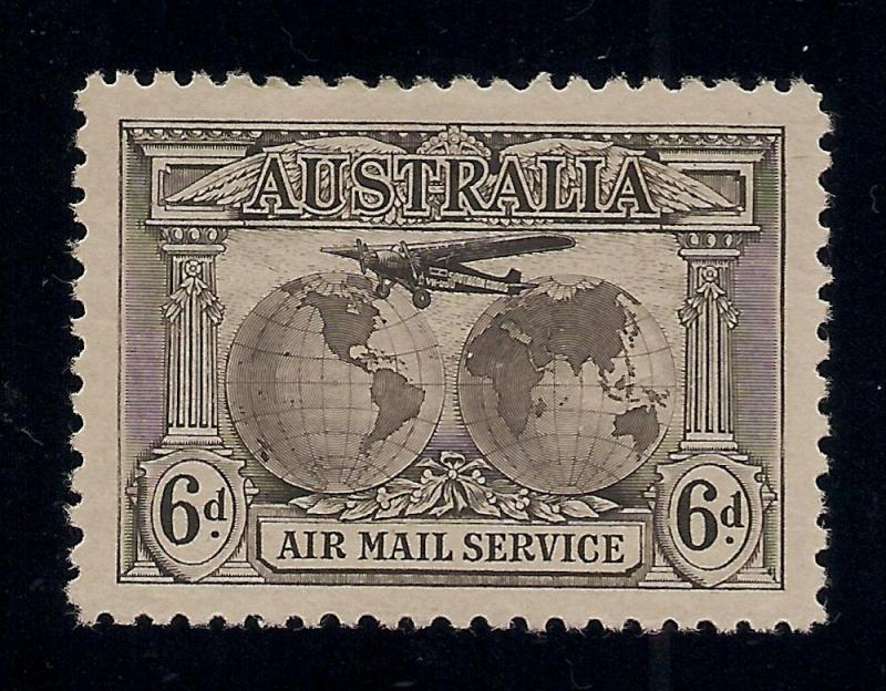 Australia #C3 Olive Brown - Unused - O.G. - V.F.