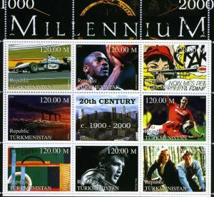 Turkmenistan 1999 Millennium 20th.Century 1900-2000 sheet perforated mnh.vf #2