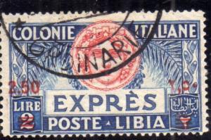COLONIE ITALIANE LIBIA 1926 ESPRESSO EXPRESS SPECIAL DELIVERY LIRE 2,50 SU 2 ...